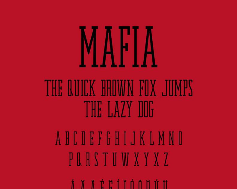Mafia - Typeface